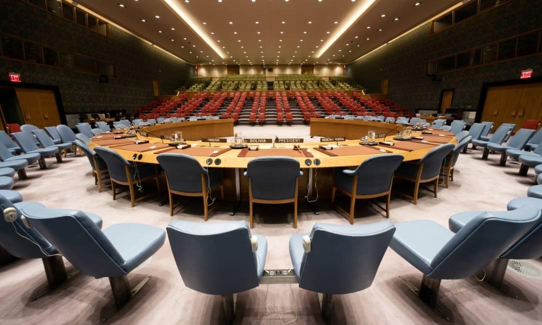 Sala do Conselho de Segurança da ONU em 2018 Foto: Ariana Lindquist / ONU