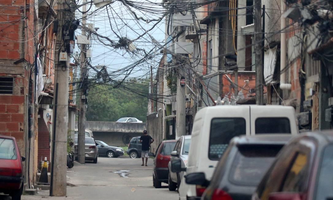 Rua da Gardênia Azul: área sempre foi cobiçada por milicianos Foto: Fabiano Rocha em 19/09/2019 / Agência O Globo