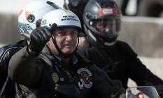 O presidente Bolsonaro participa de passeio de moto com apoiadores em São Paulo Foto: Edilson Dantas / Agência O Globo