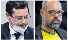 O ex-secretário de comunicação Fabio Wajngarten e o blogueiro Allan dos Santos Foto: Arquivo O Globo