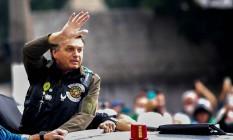 Bolsonaro participa de motociata em São Paulo 12/06/2021 Foto: MIGUEL SCHINCARIOL / AFP