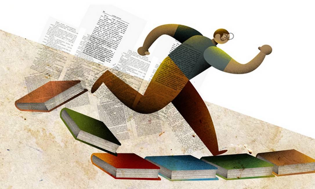 Maratona de leitura: disputa contra o relógio Foto: Ilustração de André Mello