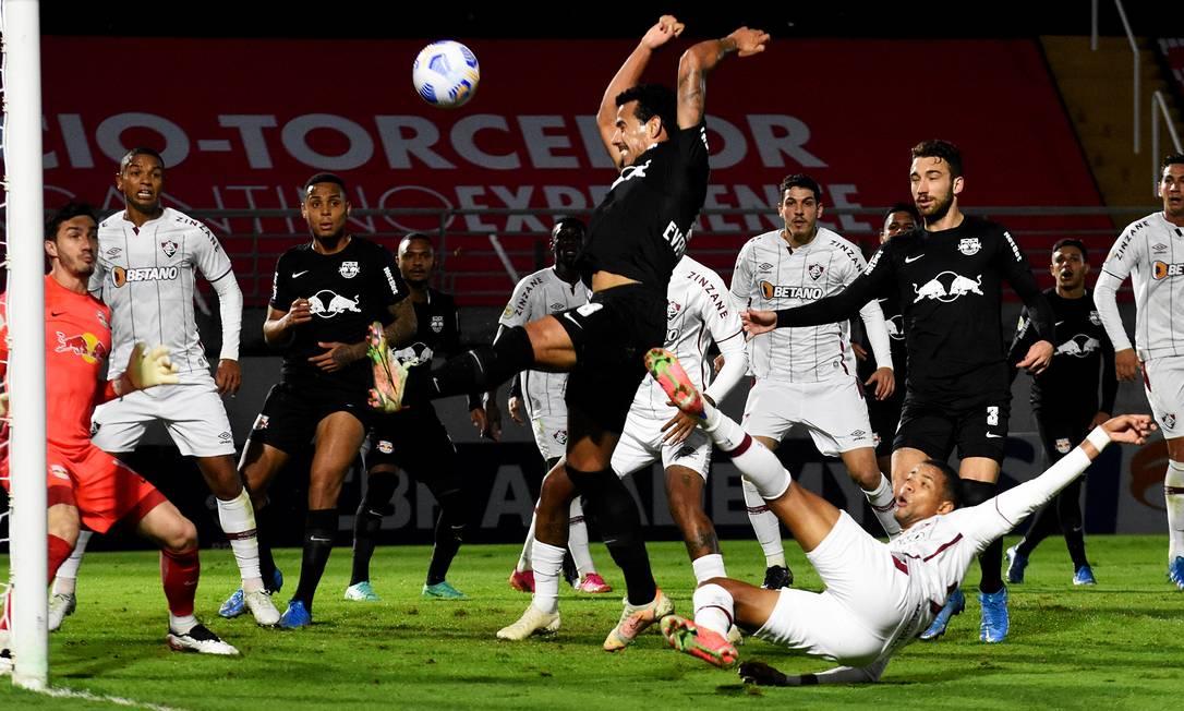 Fluminense sai perdendo por 2 a 0 e busca o empate fora de casa Foto: Mailson Santana/Fluminense FC / Agência O Globo