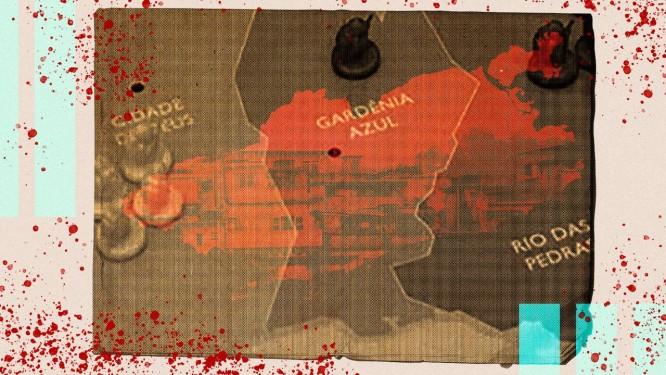 Disputa territorial entre milicianos Foto: Editoria de Arte