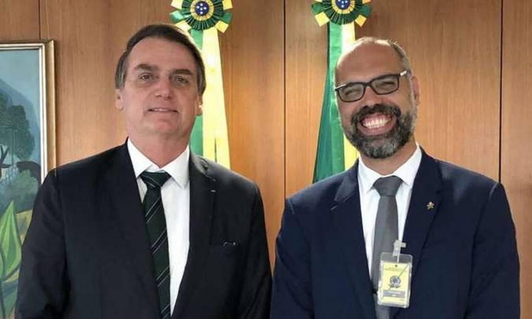 Presidente Jair Bolsonaro e Allan dos Santos Foto: Planalto/divulgação