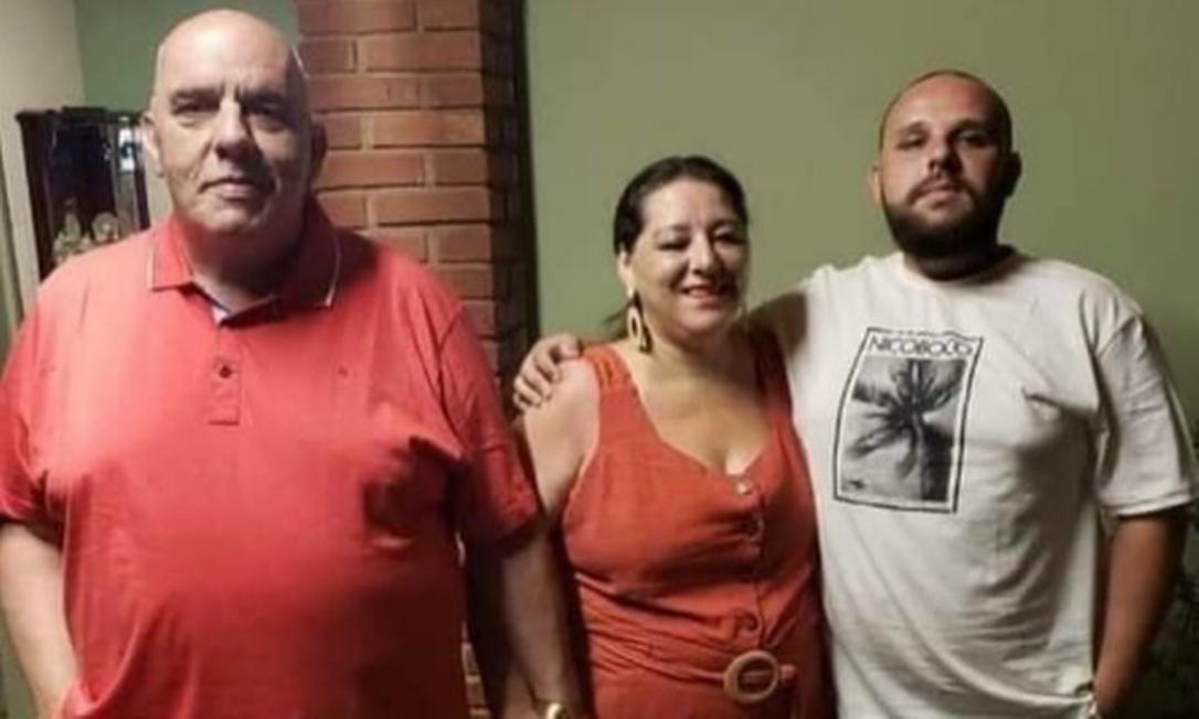 Casal Ibrahim e Clarice, e filho deles, André, morreram em razão da Covid-19 Foto: Instagram / Reprodução