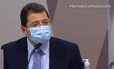 Marcellus Campêlo depõe à CPI da Covid Foto: Reprodução