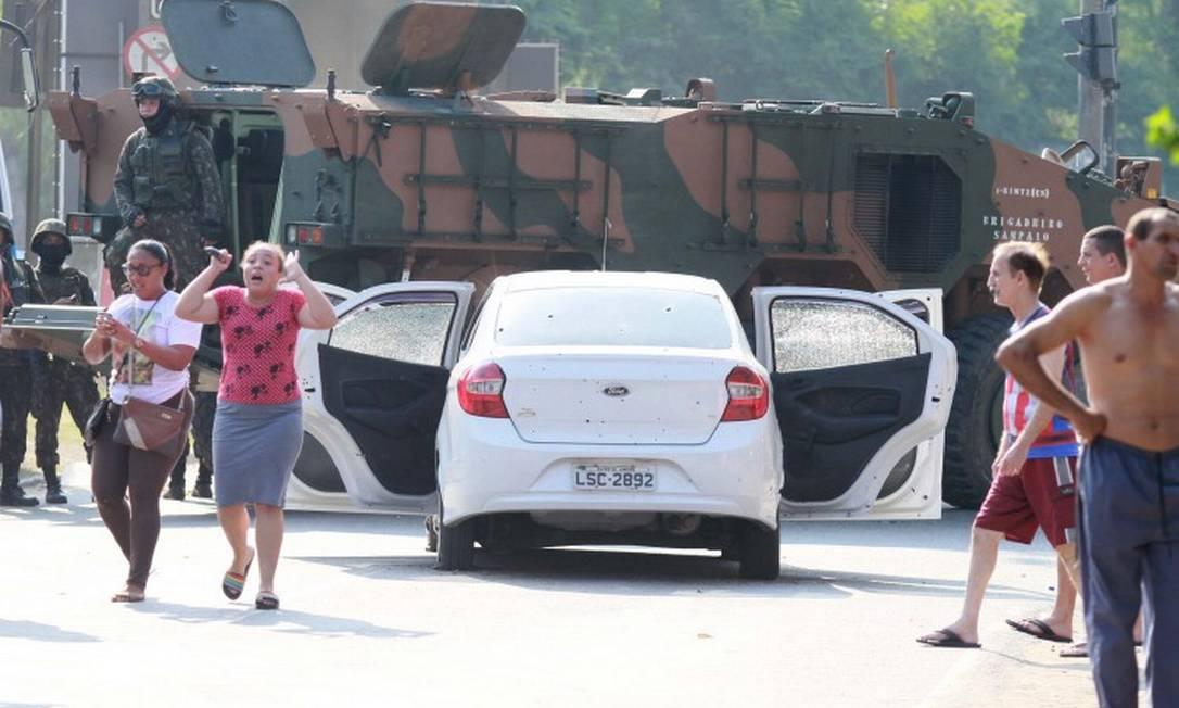 Carro onde Evaldo e a família estavam foi atingido por 62 tiros. Ao todo, foram mais de 200 disparos feitos na ação Foto: José Lucena / Futurapress