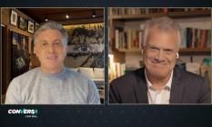 Luciano Huck durante entrevista com Pedro Bial Foto: Reprodução/TV GLOBO