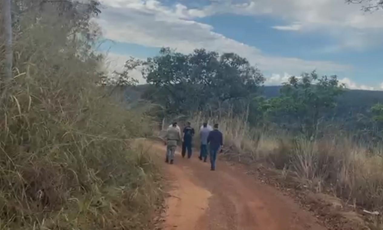 Trabalho policial para encontrar Lázaro Barbosa Sousa é feito na área rural de Cocalzinho de Goiás e arredores Foto: Divulgação / Secretaria de Segurança Pública de Goiás