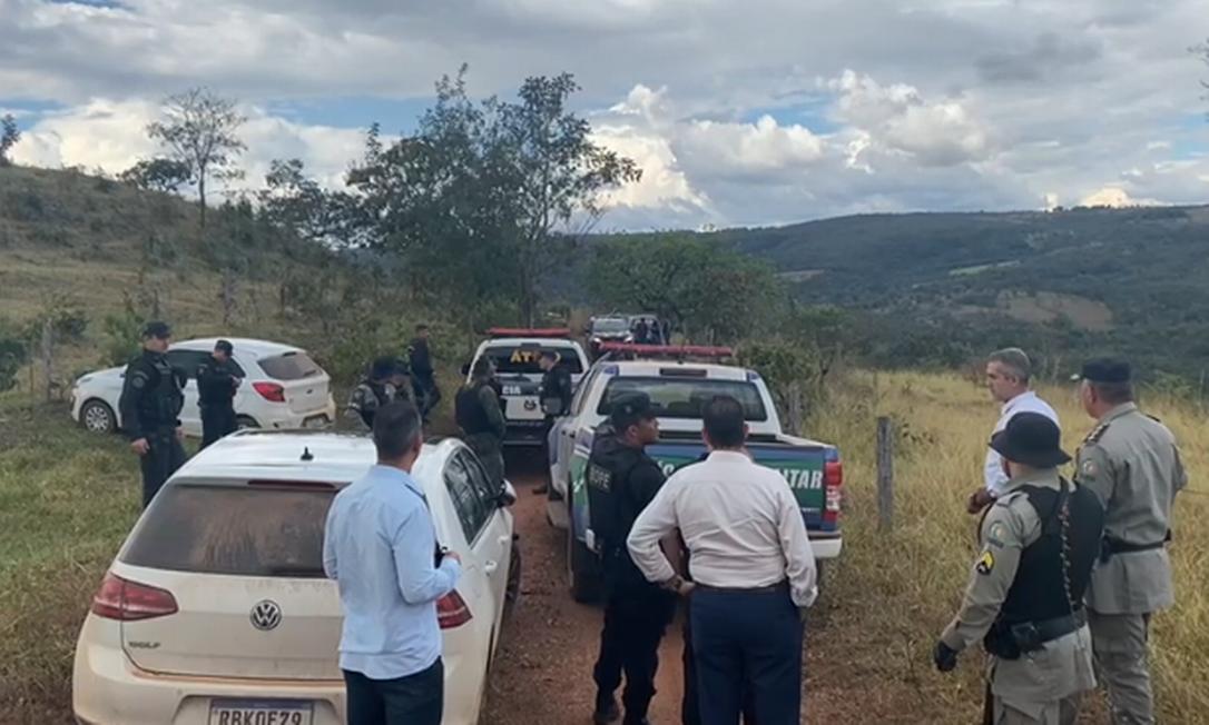 Megaoperação mobiliza cerca de 300 agentes das forças de segurança do Distrito Federal e de Goiás Foto: Divulgação / Secretaria de Segurança Pública de Goiás