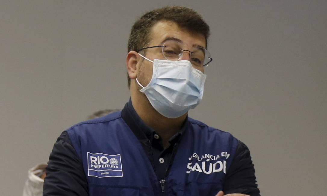 O secretário municipal de Saúde do Rio, Daniel Soranz, espera acelerar o ritmo de imunização na cidade Foto: Fabiano Rocha / Agência O Globo