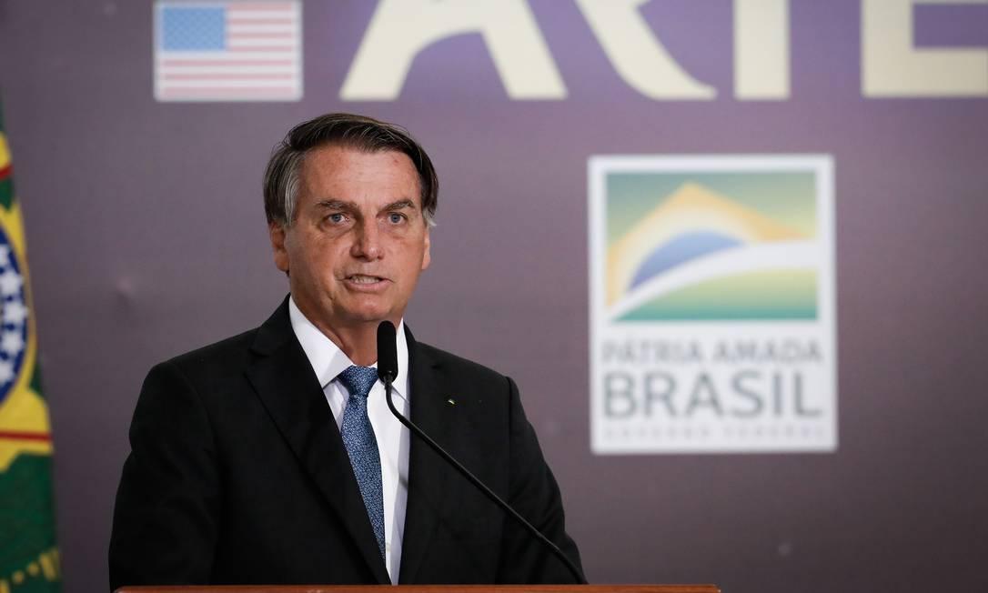 O presidente Jair Bolsonaro participa de cerimônia no Palácio do Planalto Foto: Pablo Jacob / Agência O Globo/15-06-2021