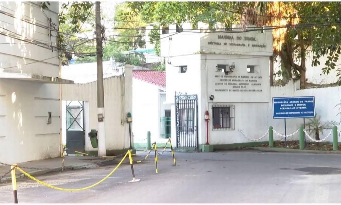 Base da Marinha onde a oficial foi esfaqueada pelo subordinado Foto: Reprodução