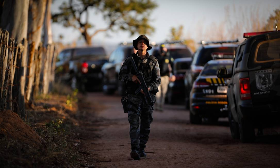 Força-tarefa foi mobilizada para capturar o serial killer Lazáro Barbosa Foto: PABLO JACOB / Agência O Globo