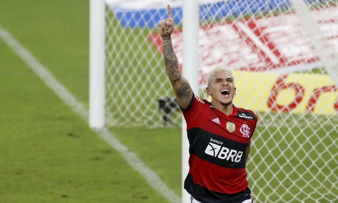 Pedro, atacante do Flamengo Foto: MARCELO THEOBALD / Agência O Globo