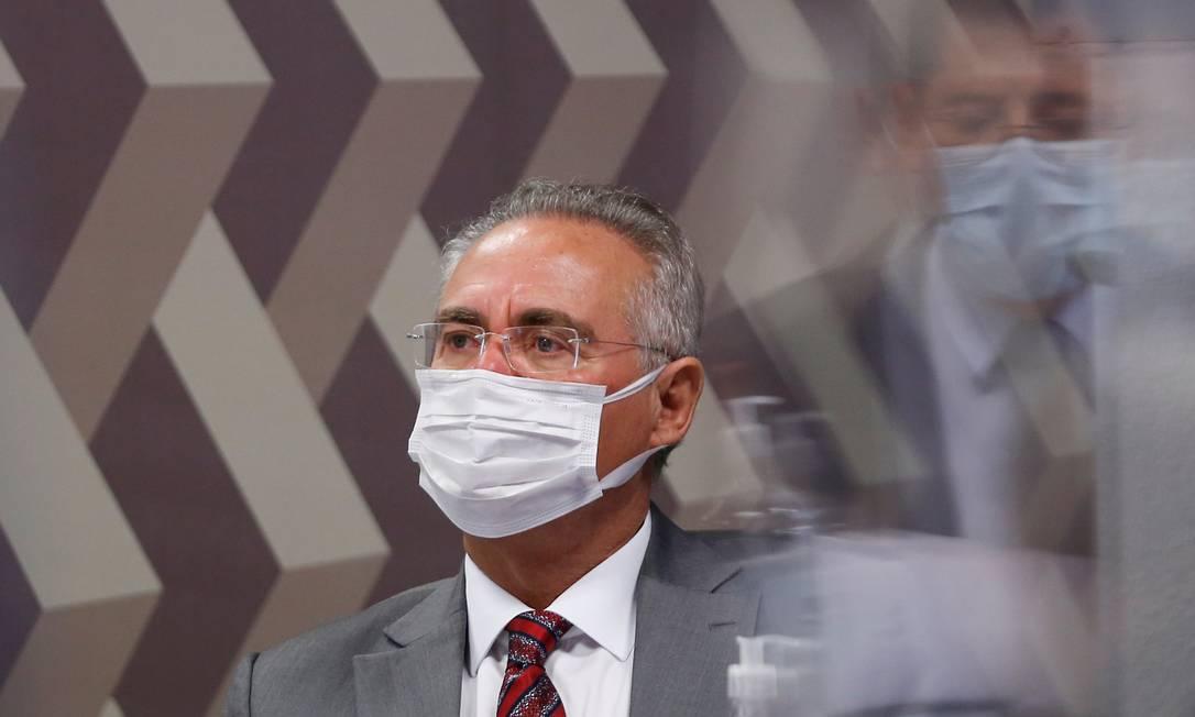 Relator da CPI da Covid, o senador Renan Calheiros (MDB-AL) Foto: ADRIANO MACHADO / REUTERS