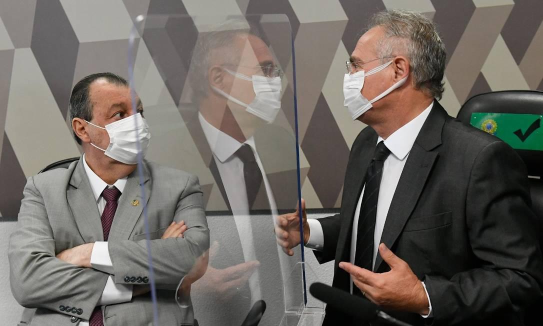 Presidente da CPI, Omar Aziz, e relator, Renan Calheiros Foto: Jefferson Rudy / Agência Senado