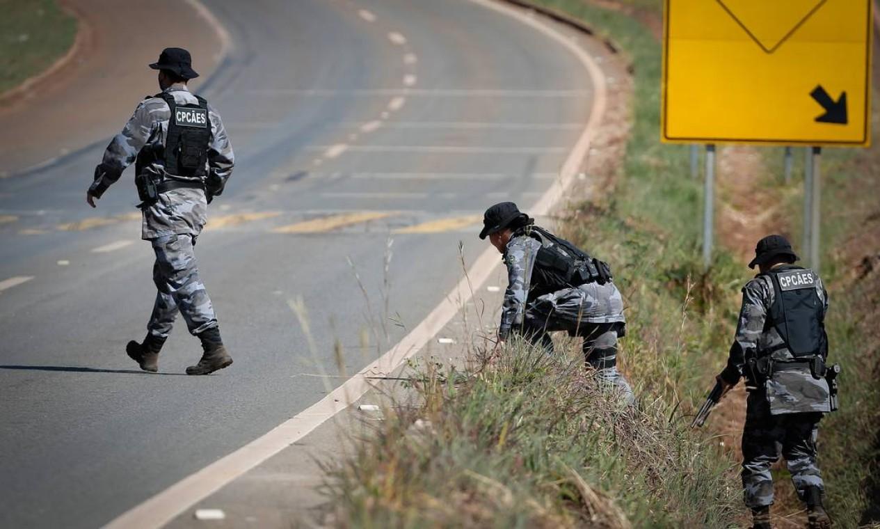 A cidade de Cocalzinho de Goiás, às margens da BR-070, foi o último indício do paradeiro do assassino em série Lázaro Barbosa, de 32 anos Foto: Pablo Jacob / Agência O Globo