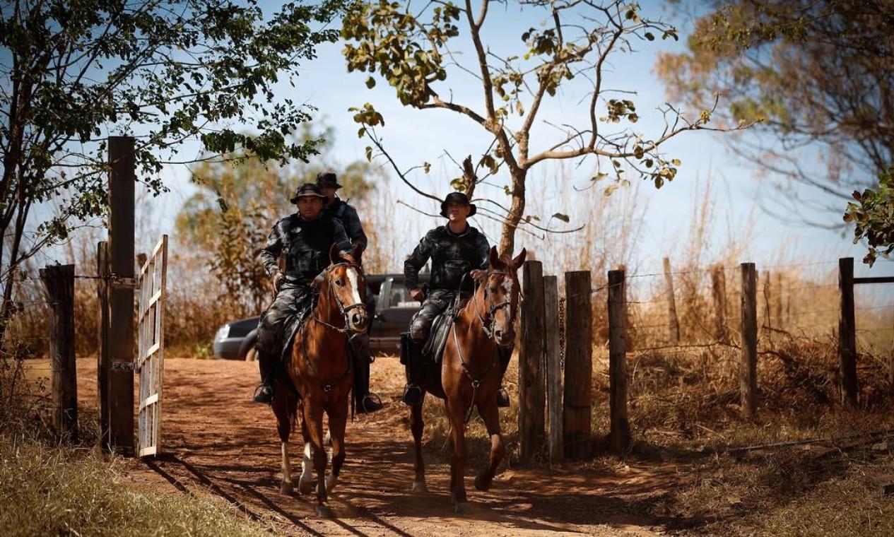 A caçada a Lázaro começou depois de ele matar quatro pessoas de uma mesma família em Ceilândia Norte, no Distrito Federal, em 9 de junho Foto: Pablo Jacob / Agência O Globo