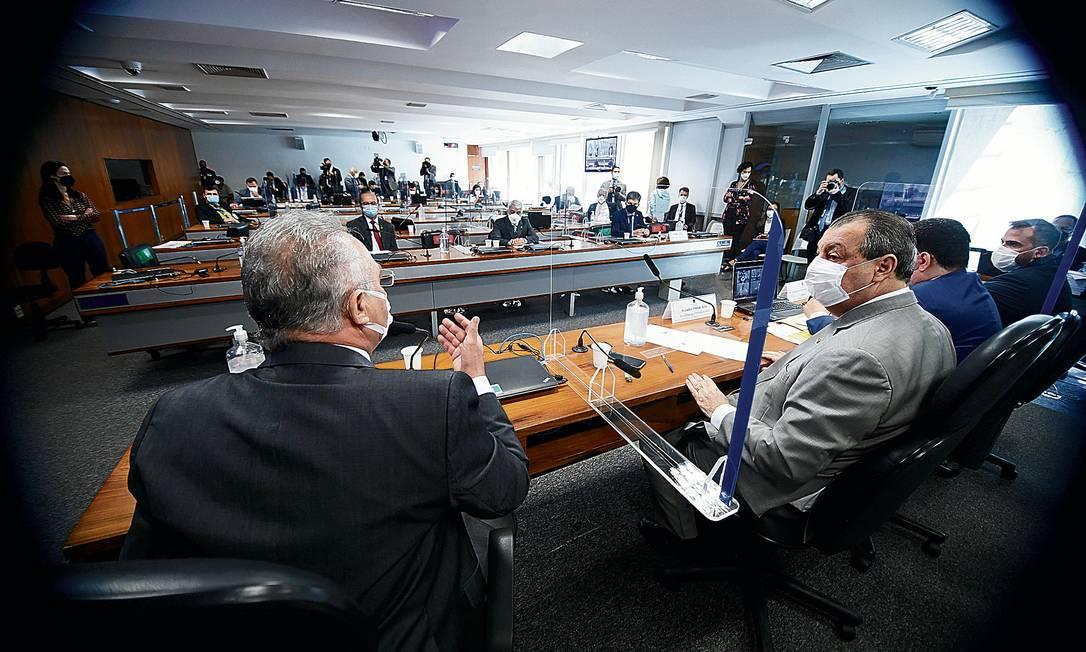 Comissão Parlamentar de Inquérito da Pandemia (CPIPANDEMIA) realiza audiência pública interativa para ouvir o depoimento de especialistas convidados a respeito de aspectos técnicos da Covid-19 Foto: Marcos Oliveira / Marcos Oliveira/Agência Senado