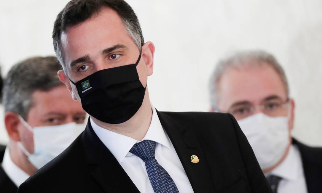 O presidente do Senado, Rodrigo Pacheco (DEM-MG) Foto: UESLEI MARCELINO / Reuters