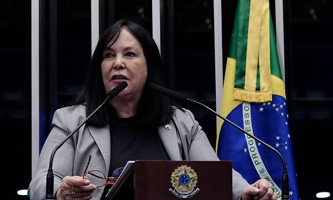 Rose discursa no Senado: PF mapeou pagamento de despesas Foto: Waldemir Barreto/Agência Senado