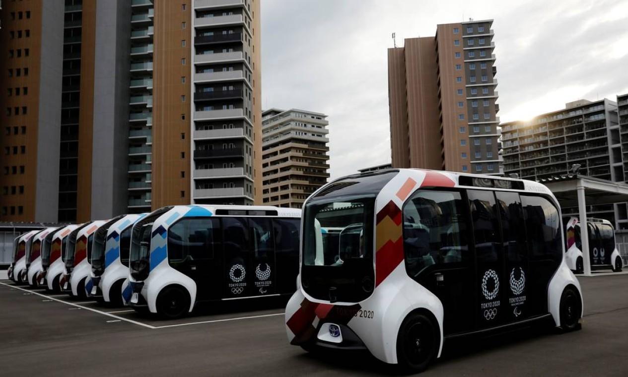 Veículos elétricos autônomos transportarão atletas Foto: KIM KYUNG-HOON / REUTERS