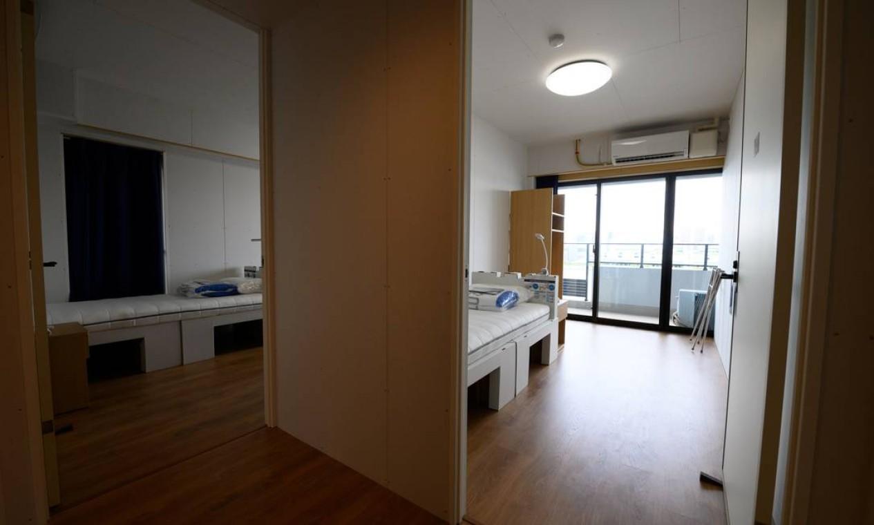 Boa parte dos quartos terá duas camas e um espaço comum Foto: Akio Kon / REUTERS