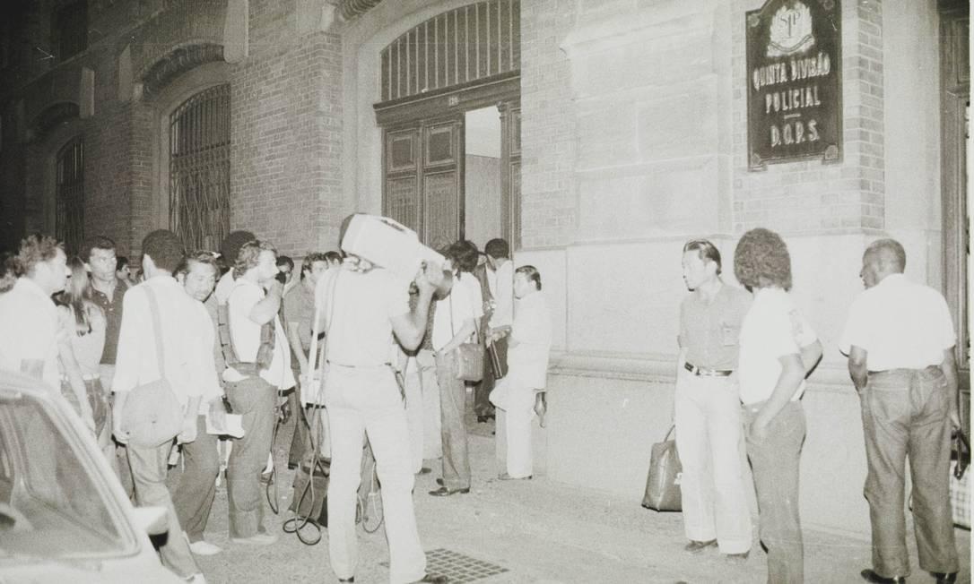 Sede do Deops, em São Paulo, recebeu presos políticos durante a ditadura militar Foto: Olivio Lamas / Agência O Globo (20/05/1980)