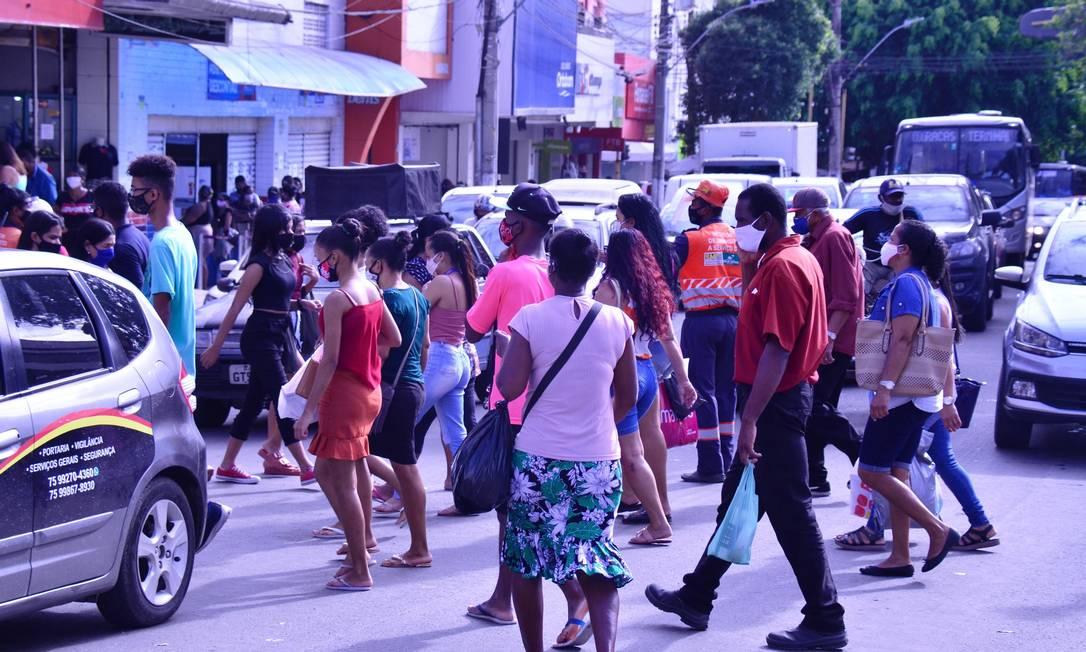 Movimentação intensa no comércio de Feira de Santana (BA) Foto: LUIZ TITO/FUTURA PRESS / Agência O Globo