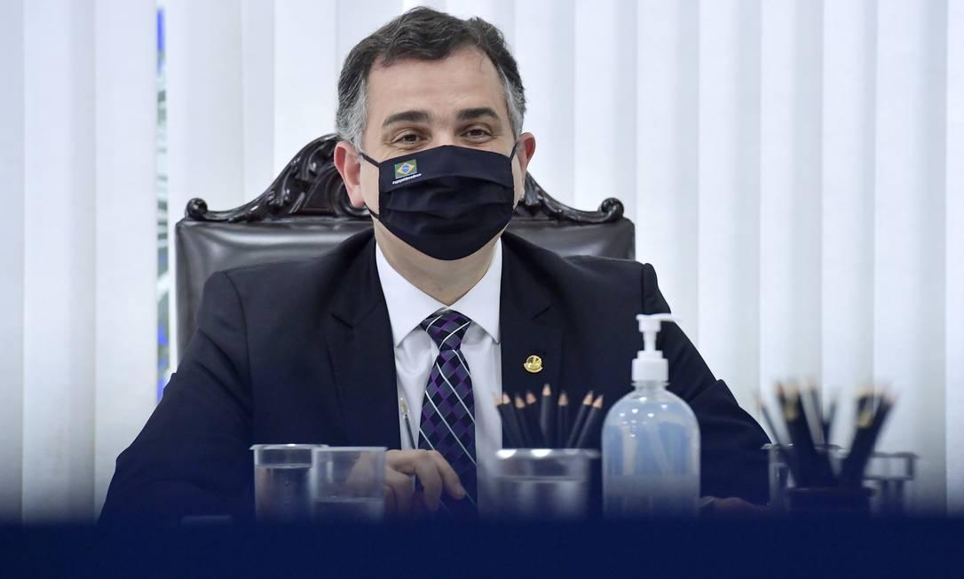 Presidente do Senado, senador Rodrigo Pacheco (DEM-MG) Foto: Marcos Brandão / Agência O Globo