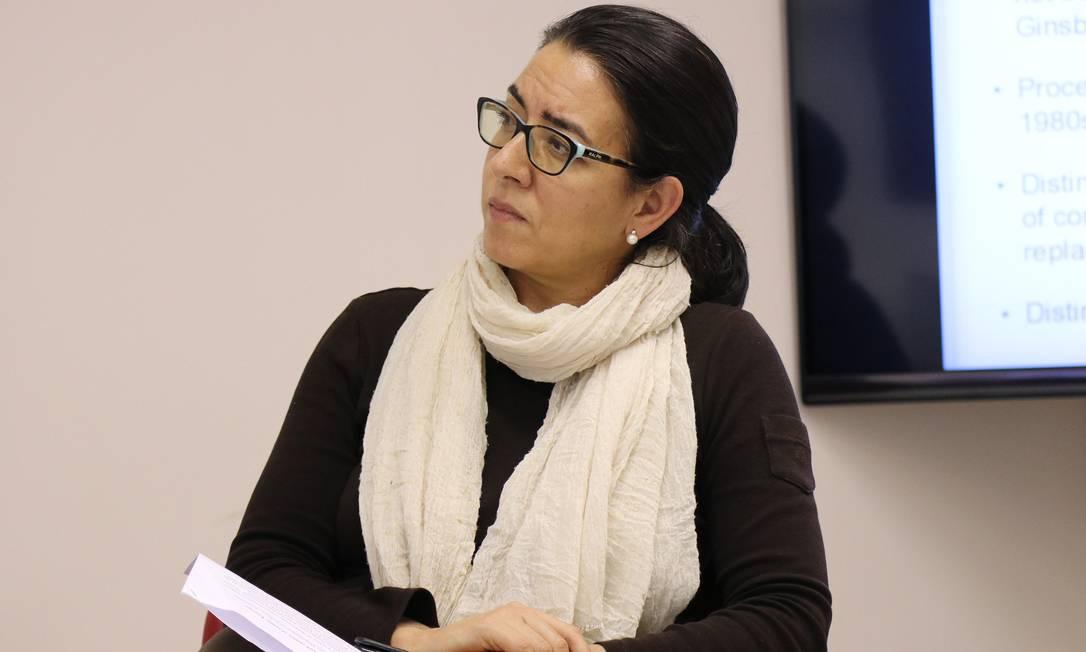 A cientista política Lorena Barberia, professora da Faculdade de Filosofia, Letras e Ciências Humanas da USP Foto: Matheus Araújo / IEA-USP/Divulgaçao