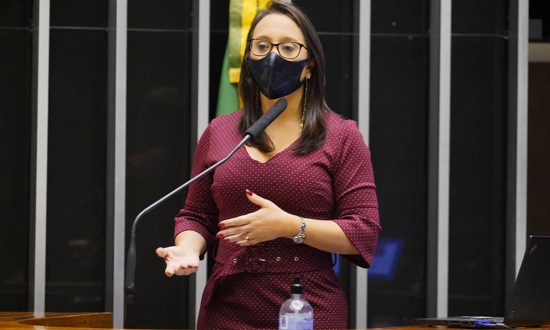 Deputada Renata Abreu (Podemos-SP), relatora da reforma eleitoral Foto: Pablo Valadares / Câmara dos Deputados