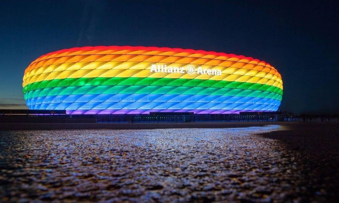 UEFA impediu gesto contra homofobia durante partida da Euro 2020 Foto: Divulgação