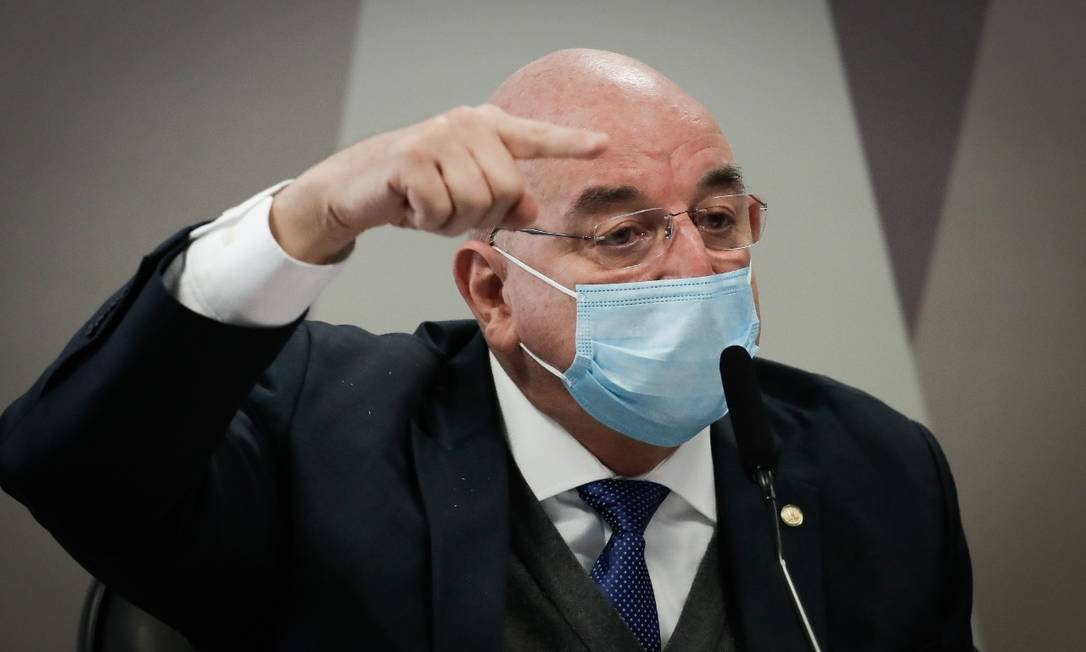 Osmar Terra depõe à CPI da Covid Foto: Pablo Jacob/ Agência O Globo