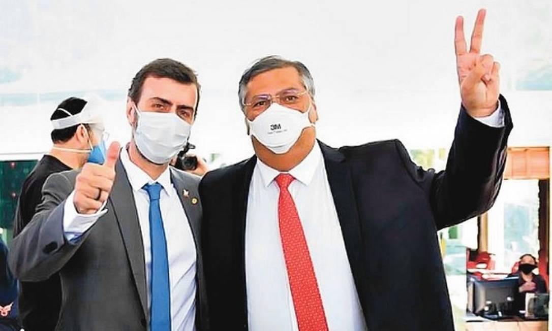 Marcelo Freixo e Flávio Dino Foto: Reprodução