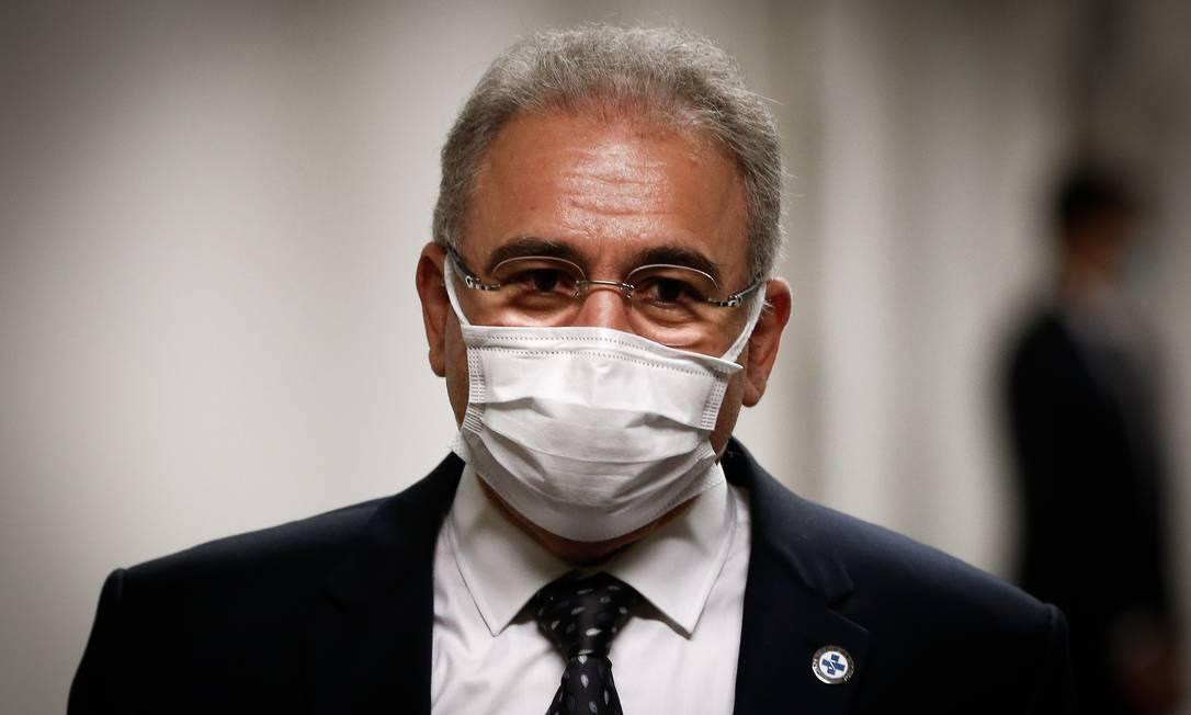 O ministro da Saúde, Marcelo Queiroga, no Senado Foto: Pablo Jacob/Agência O Globo/08-06-2021