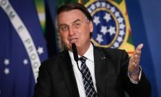 O presidente Jair Bolsonaro participa de evento no Palácio do Planalto Foto: Pabblo Jacob/Agência O Globo/22-06-2021
