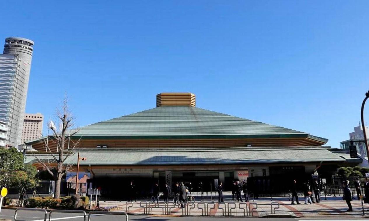 Arena Kokugikan é a casa do sumô, mas vai sediar o boxe nas Olimpíadas. Seu interior é projetado em forma de tigela. A capacidade é de 7.300 pessoas Foto: Divulgação