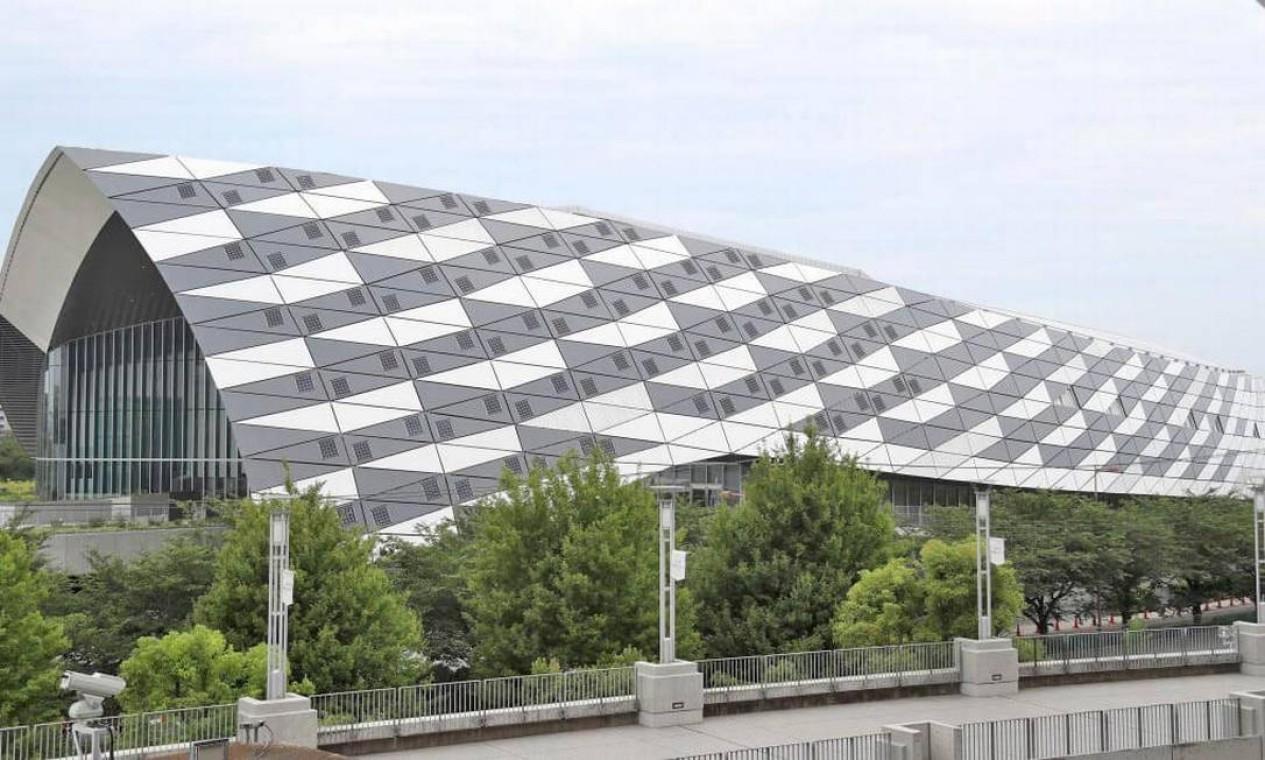 Musashino Forest Sport Plaza é um espaço multiuso que vai abrigar as modalidades de badminton e pentatlo moderno. Tem capacidade para até 7.200 espectadores Foto: Divulgação