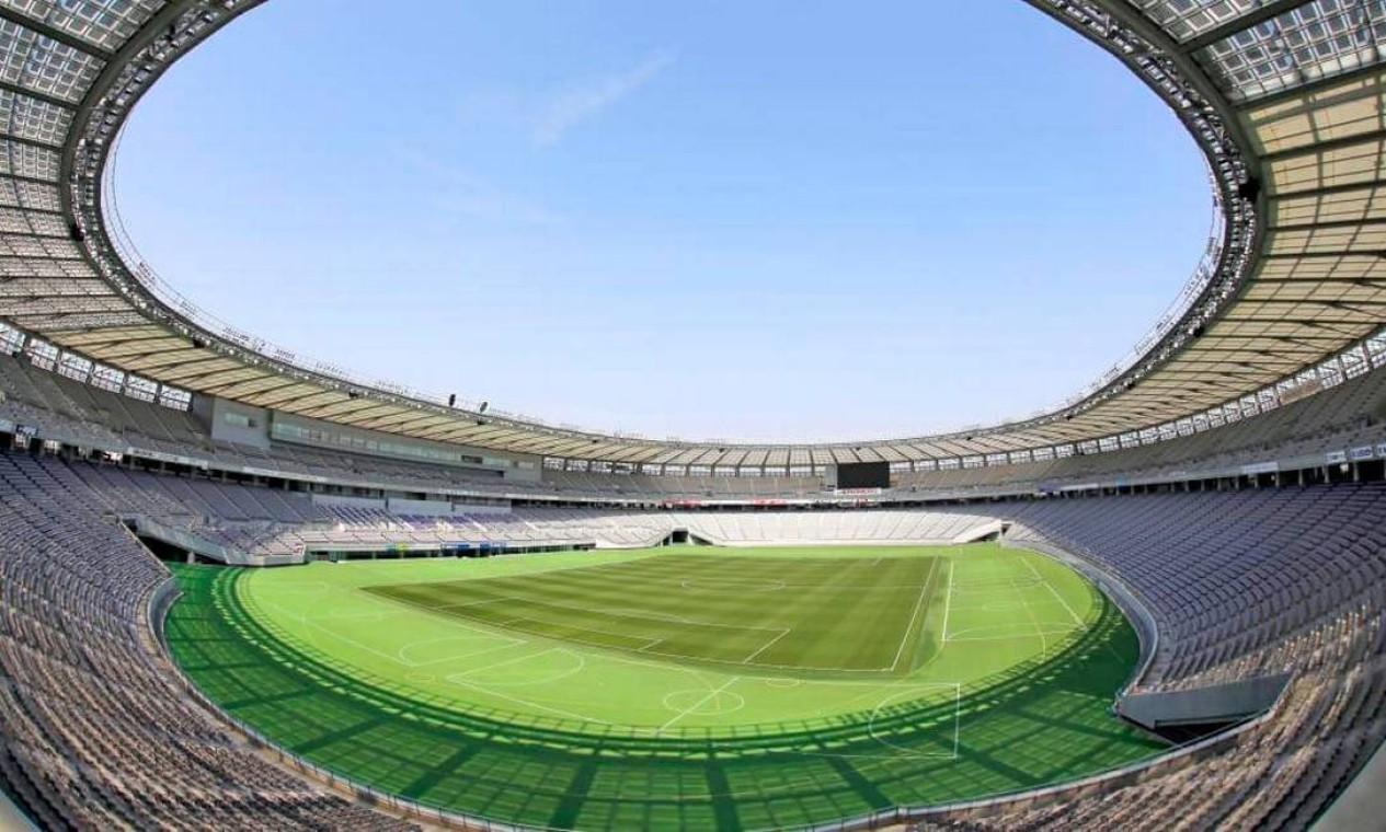 O Estádio de Tóquio tem capacidade para 48 mil pessoas. Além do futebol, receberá o pentatlo e o rúgbi Foto: Divulgação