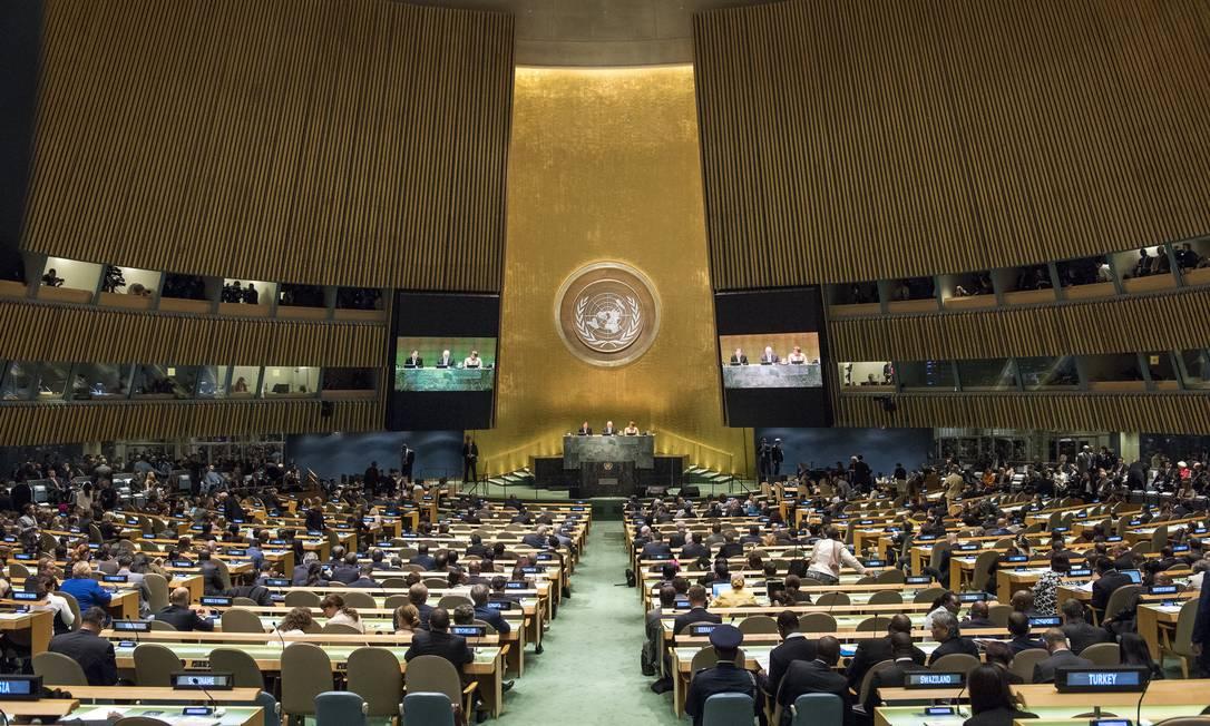 Assembleia Geral da ONU em 2016 Foto: Cia Pak / ONU