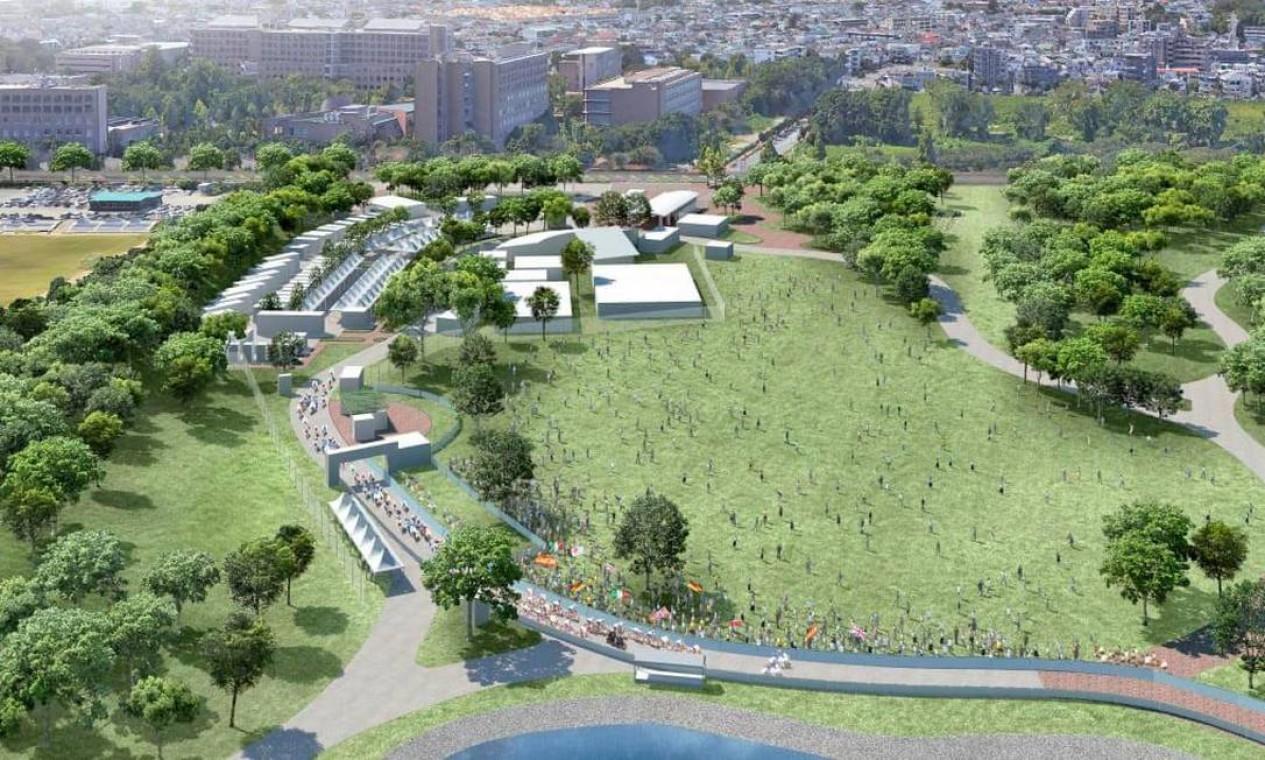 Parque Musashinonomori será o ponto de partida para a corrida de ciclismo de estrada Foto: Divulgação