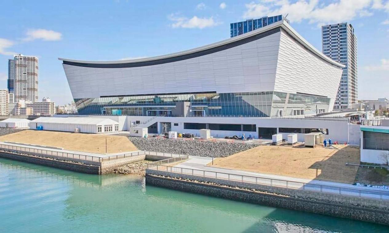 A Ariake Arena, construída na parte norte do distrito de Ariake, será palco das partidas de vôlei e basquete em cadeira de rodas. Após os Jogos de Tóquio 2020, a arena se tornará um novo centro esportivo e cultural com capacidade para até 15.000 espectadores Foto: Divulgação