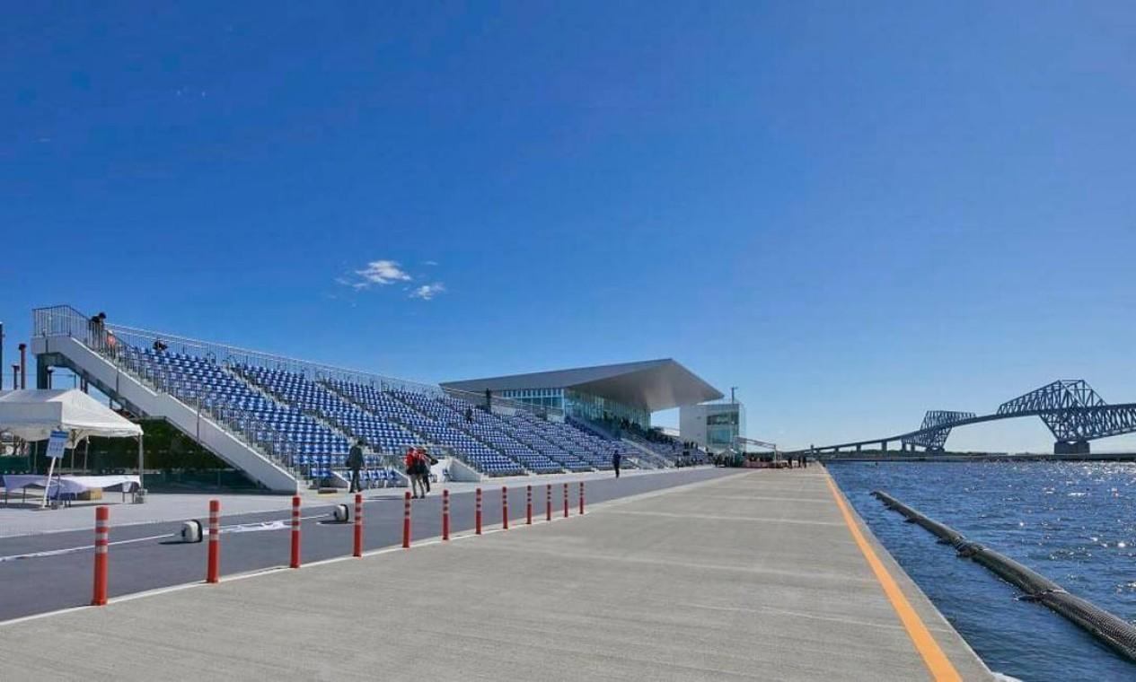 O Sea Forest Waterway vai sediar as competições de remo e canoagem. Após os Jogos, será usado para competições internacionais. No remo, pode receber até 16 mil espectadores, enquanto na canoagem são 12.800. Foto: Divulgação
