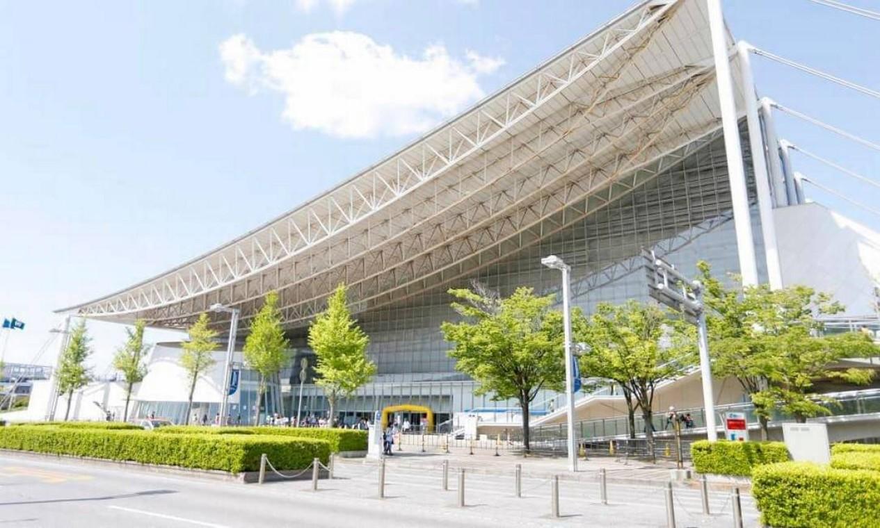 O Makuhari Messe HallCentro se estende por cerca de 210 mil metros quadrados e consiste em três zonas principais. Está localizado na cidade de Chiba e abrigará as provas de luta olímpica, taekwondo e esgrima Foto: Divulgação