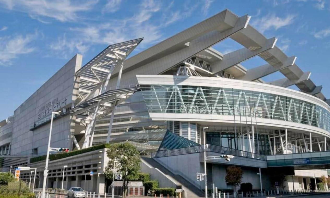 A Saitama Super Arena é uma das maiores instalações multiuso do Japão, situada na cidade de Saitama. Vai receber jogos de basquete. Tem arquibancadas para 21 mil pessoas Foto: Divulgação