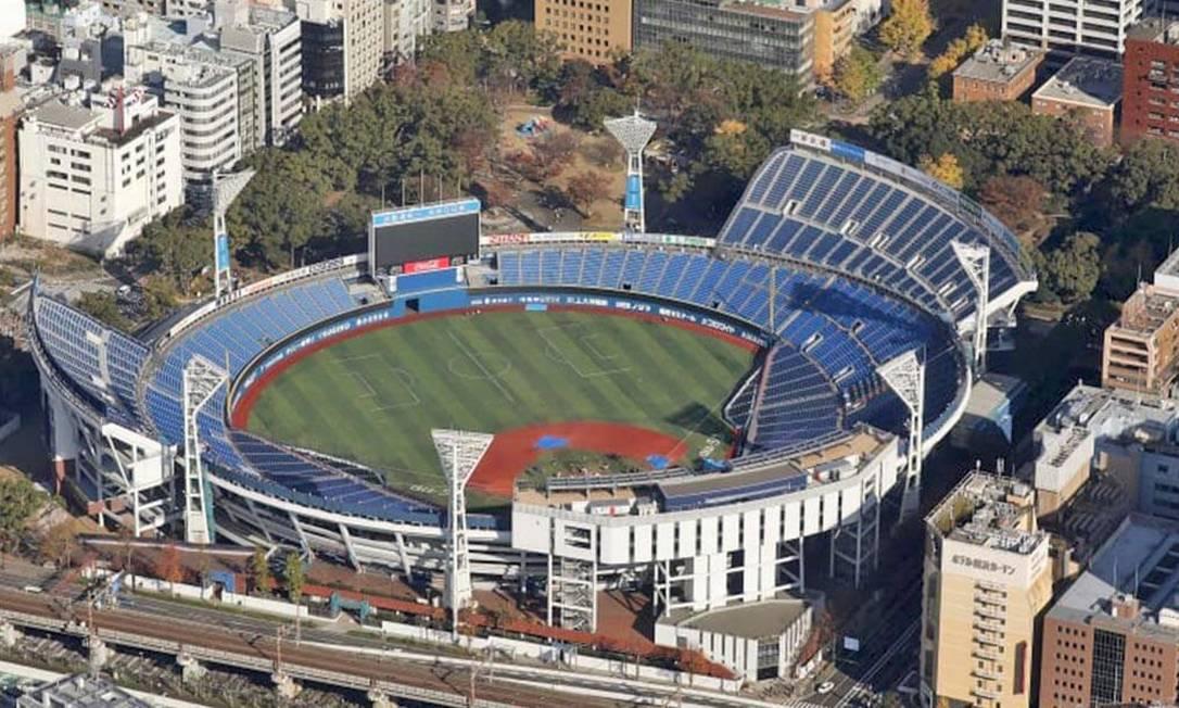 Localizado no Parque de Yokohama, o estádio de beisebol de Yokohama é o primeiro multifuncional do Japão. Também serve como sede de um dos times de beisebol profissional do Japão. Vai abrigar o beisebol e o softball, com capacidade para 35 mil pessoas Foto: Divulgação