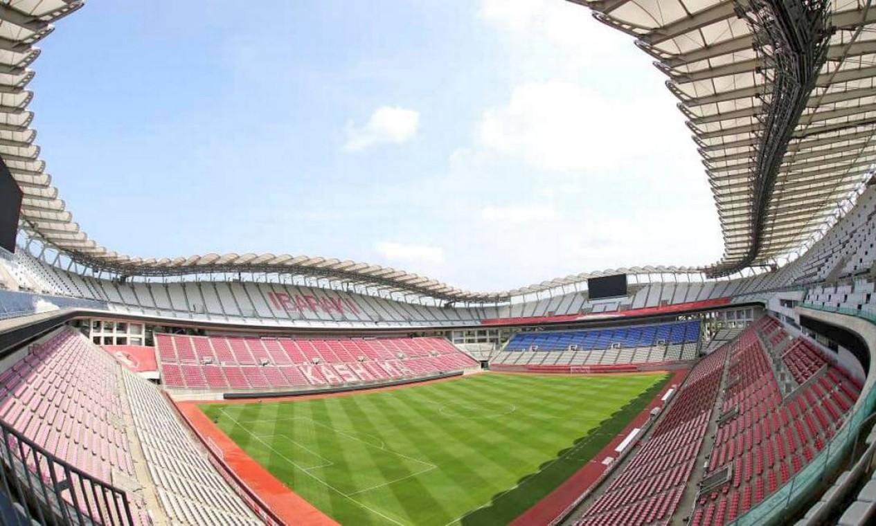 Casa do famoso clube japonês Kashima Antlers, o Ibaraki Kashima Stadium tem capacidade para 40 mil torcedores. Inaugurado em 1993, já recebeu jogos da Copa das Confederações de 2001 e da Copa do Mundo de 2002 Foto: Divulgação